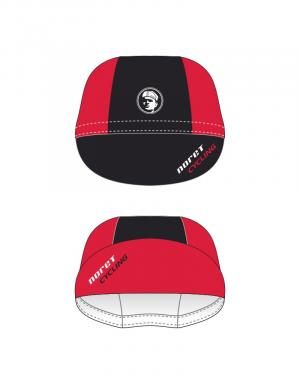 Casquette toile cycliste Rouge