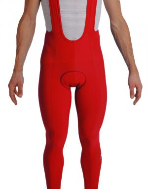 Collant cycliste velours rouge